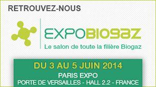 Eneria sera présent sur Expobiogaz 2014
