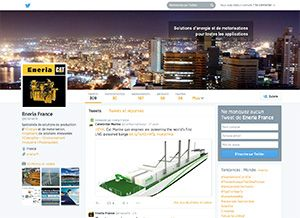 Page Twitter Eneria France