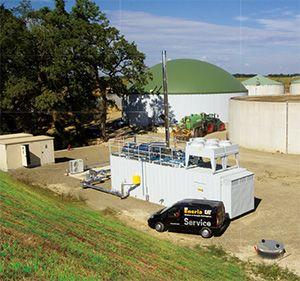 Le site Biogaz de Labat (40)