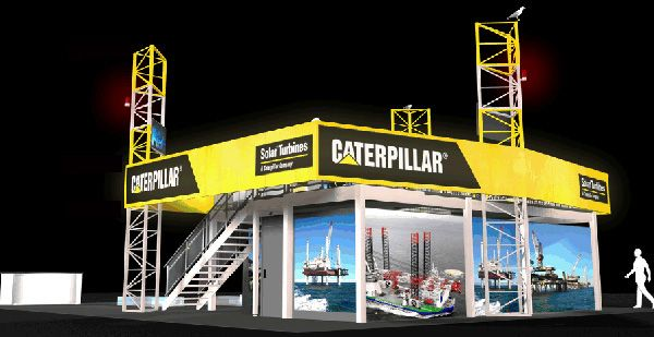 Stand Caterpillar au salon OTC 2015 à Houston (USA)