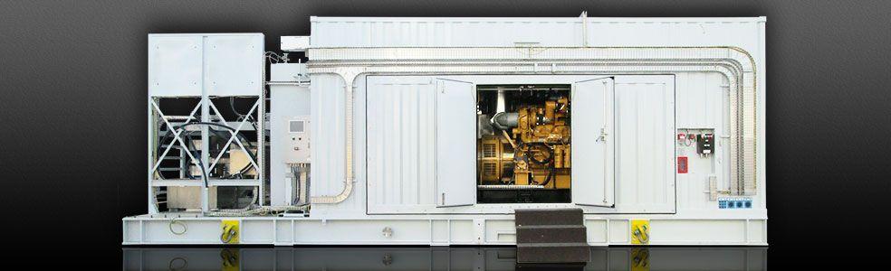 Emergency diesel generator package