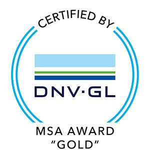 Certification Eneria - MSA Award Gold