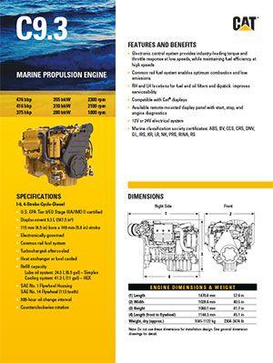 Fiche produit moteur marin Cat® C9.3
