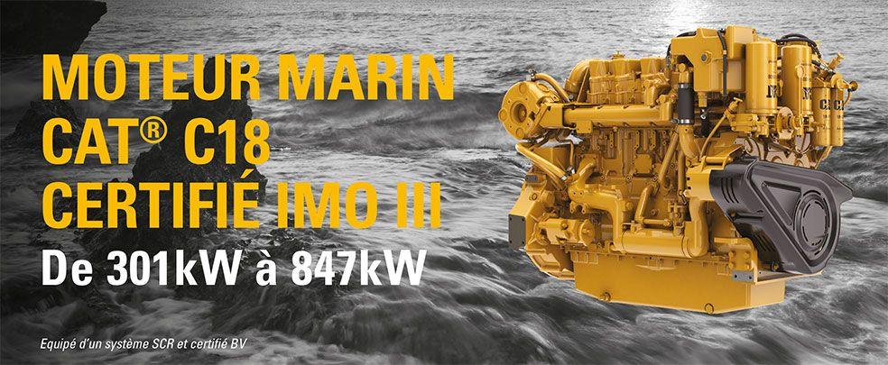 Moteur marin C18 IMO III