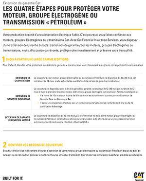 Extension de garantie - Moteurs pétrole