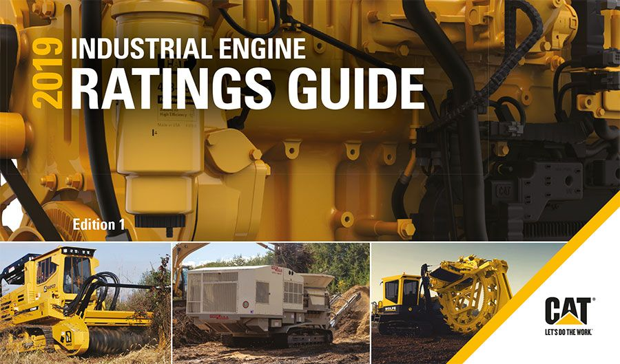 CAT Industrial engines rating guide 2019