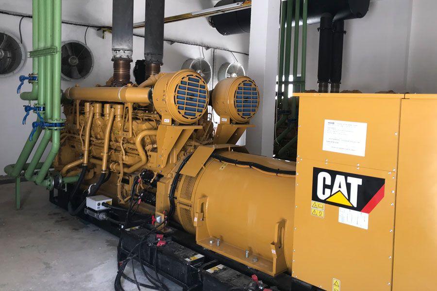 Moteur Caterpillar 3516BHD équipé du Dynamic Gas Blending