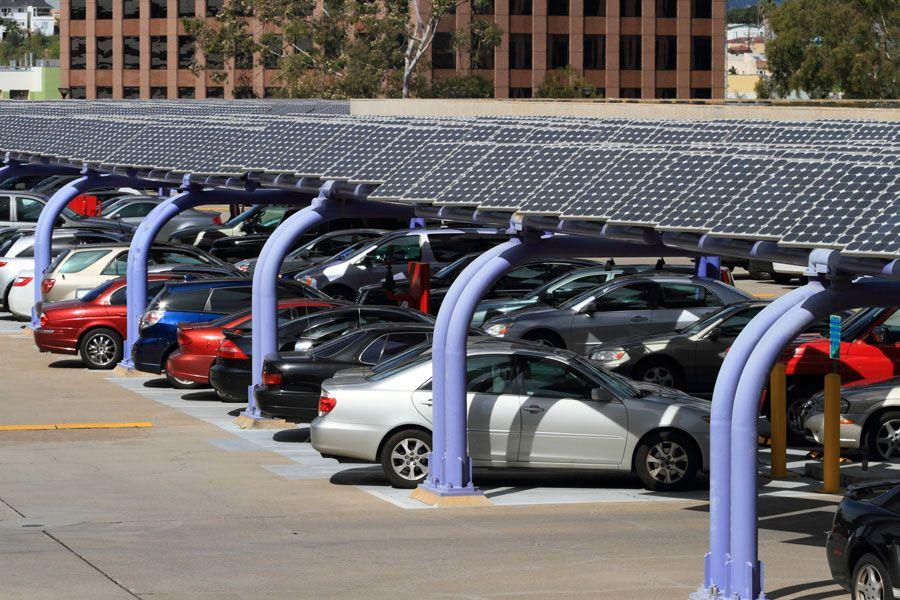 Ombrières photovoltaiques