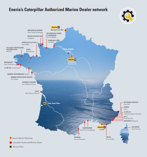 Carte des agents marins Eneria