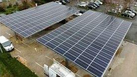 Ombrière de parking photovoltaïqueEneria Montlhery